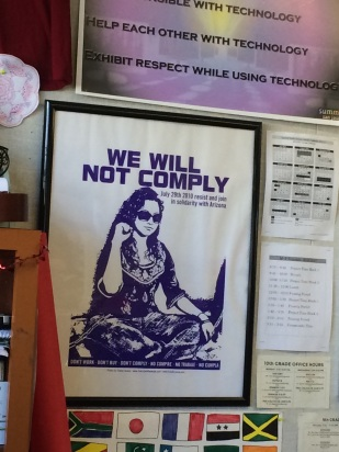 _We will not comply_ poster
