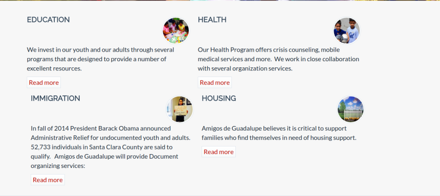 Amigos De Guadalupe Website Screenshot
